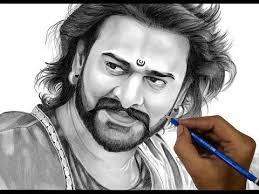 drawing bahubali prabhas bahubali 2 realistic sketch timelapse