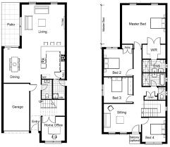 narrow house plan trendy idea floor plan for narrow house 9 25 best ideas about
