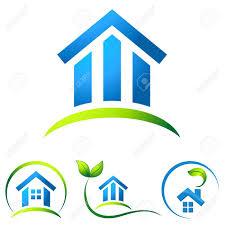 Haus Immobilien Umweltfreundliche Haus Immobilien Symbole Lizenzfrei Nutzbare