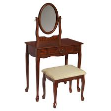 baxton studio anjou dressing table with mirror hayneedle