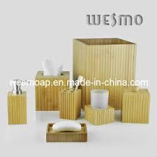 china eco friendly bamboo bathroom set bathroom accessories bath