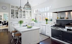 appliances chrome hanging pendant lamp shade with white kitchen