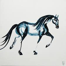 mustang horse drawing horses u2014 laura douglas