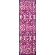 Lilac Runner Rug Unique Loom Istanbul Lilac 3 Ft X 9 Ft 10 In Runner Rug 3134703