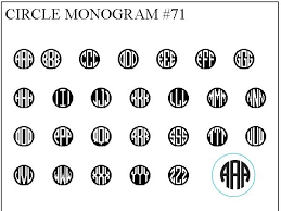 3 initial monogram fonts customize your wax seal st with your choice of popular font