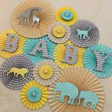 themed paper safari themed baby shower nursery decorations pleats on sheets