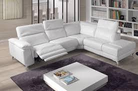 canape cuir blanc angle canape d angle cuir relax maison design wiblia com