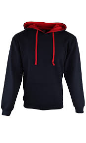 heavy blend hoody jumper small to xxl black and red