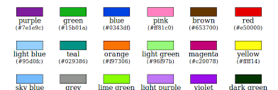 list of color xkcd color list for latex users romano giannetti s blog