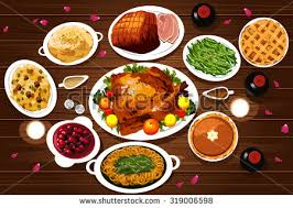 free thanksgiving meal vector free vector stock
