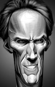 clint eastwood caricature by chngch on deviantart