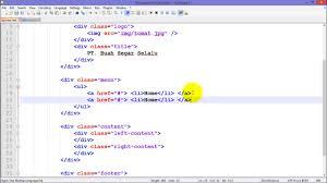 membuat web html tutorial membuat website dengan html dan css part 2 youtube
