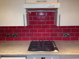 Kitchen Tiles Red Beautiful Kitchen Tiles Brick Effect Wall 2017 Also Creative Of