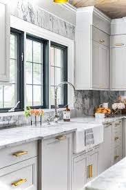 gray kitchen cabinets with white crown molding blue kitchen cabinet crown moldings design ideas