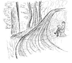 sketch of a road in park stock illustration image 55944040