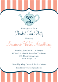 bridal shower tea party invitation wording futureclim info