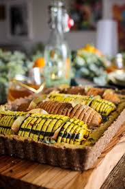 beautiful vegan hasselback thanksgiving tart this mess is ours