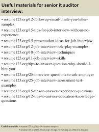 Senior Auditor Resume Sample by Top 8 Senior It Auditor Resume Samples
