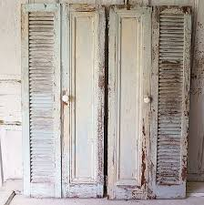 Shabby Chic Shutters by French Blue Wood Shutters Shabby Cottage Chic Vintage Salvaged