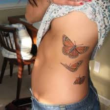 butterflies rib cage
