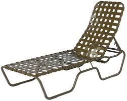 Suncoast Outdoor Furniture Commercial Basketweave Strap Chaise Lounge Sanibel Stacking