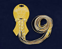 ribbon shoe laces gold ribbon shoe laces childhood cancer awareness shoestrings