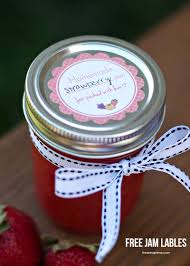 homemade strawberry jam free labels i heart nap time