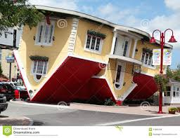 niagara falls canada aug 4 attraction upside down house on editorial stock photo