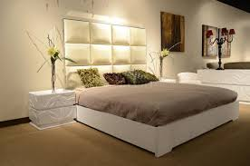 leather headboard modern bedroom w optional casegoods
