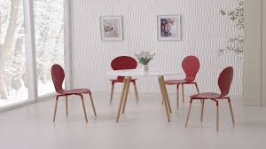 Red Dining Table by White Dining Table And 4 Red Chairs Homegenies