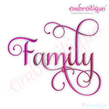 embroitique family script 4 embroidery design
