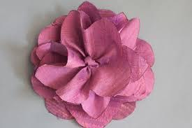 silk flower sewn silk flower my material
