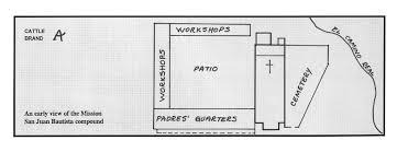 mission san jose floor plan california missions