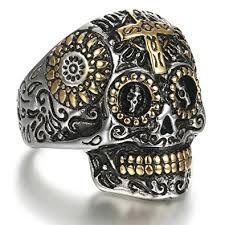 cool skull rings images Skull rings lolias stainless steel skull rings for men biker cross jpg