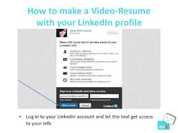 Linkedin Resume Creator How To Make A Video Resume With Your Linked In Profile Resu Me Tool