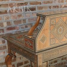Secretary Style Desk by Mediterranean Levantine U0026 Syrian Furniture Inlaid With Mother Of