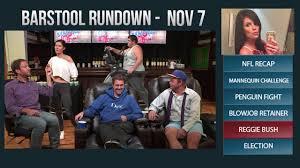 Challenge Barstool Barstool Rundown November 7 2016