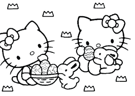 easter bunny coloring pages online kitty drawing for toddlers that