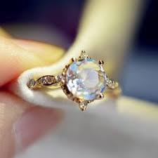Moonstone Wedding Ring by Multi Color Moonstone Engagement Ring Made In Solid 14k 18k Gold