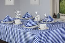 walton co auberge nordic blue gingham tablecloths kitchen dining