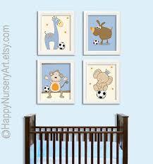 Soccer Ball Nursery Art Safari Animals Elephant By HappyNurseryArt - Babies bedroom ideas