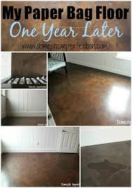 my paper bag floor one year later domestic imperfection