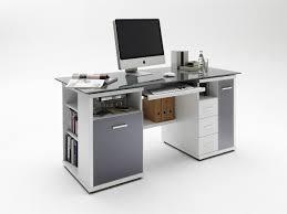 Schreibtisch Glas Schreibtisch Home Office Glas Grau Weiß Hochglanz Ebay