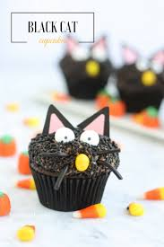 black cat halloween cupcakes eighteen25