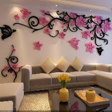 3d wall stickers home decor big rose tree crystal wall sticker