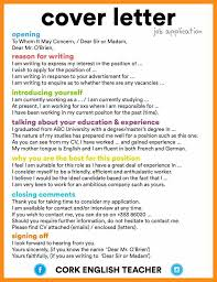 making a good cover letter example a very good cover letter