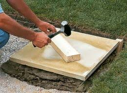 Laying Patio Slabs On Grass How To Build A Shed Base Help U0026 Ideas Diy At B U0026q