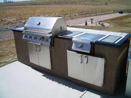 Kitchen  Beautiful Outdoor Kitchen Design With Brown Varnishe - Outdoor bbq kitchen cabinets