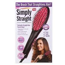Vanity Hair Cork Simply Straight Ceramic Straightening Brush Bed Bath U0026 Beyond