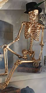 halloween d glam up your halloween d cor with a gold 5 ft skeleton hang him